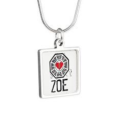 I Heart Zoe - LOST Silver Square Necklace