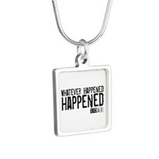 Whatever Happened... Happened Silver Square Neckla