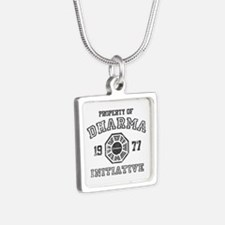 Property of Dharma Distresses Silver Square Neckla