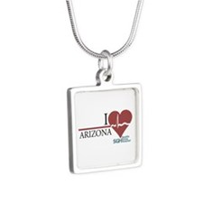 I Heart Arizona Silver Square Necklace