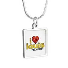 I Heart Louis van Amstel Silver Square Necklace