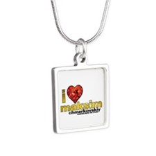 I Heart Maksim Chmerkovskiy Silver Square Necklace