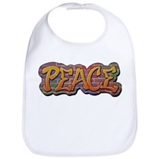 Peace Graffiti Bib
