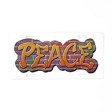 Peace Graffiti Aluminum License Plate