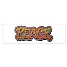 Peace Graffiti Bumper Sticker