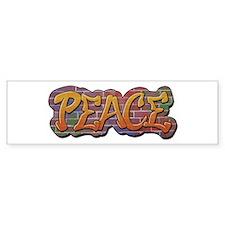 Peace Graffiti Bumper Sticker