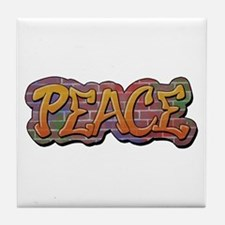 Peace Graffiti Tile Coaster