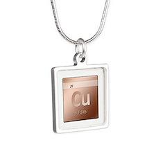 Copper (Cu) Silver Square Necklace