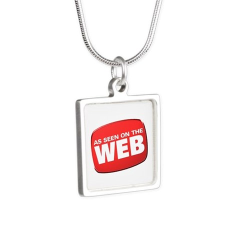 As Seen on the Web Silver Square Necklace