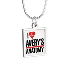 I Heart Avery's Anatomy Silver Square Necklace