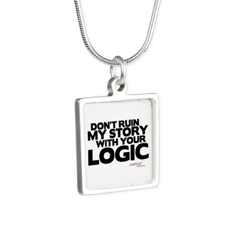 My Story... Your Logic Silver Square Necklace