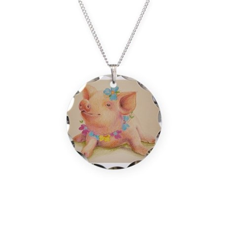California Dreamin Necklace Circle Charm