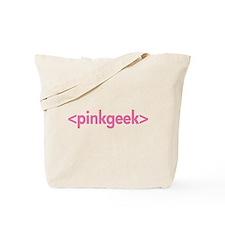 Pink Geek HTML Tote Bag