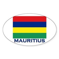 Mauritius Flag Gear Oval Decal