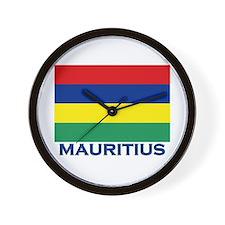 Mauritius Flag Gear Wall Clock