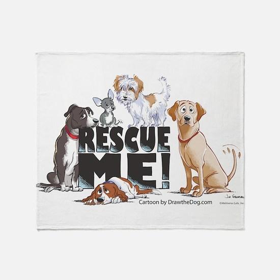 Cute Rescue dog Throw Blanket