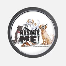 Funny Shelter rescue dogs Wall Clock