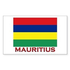 Mauritius Flag Merchandise Rectangle Decal