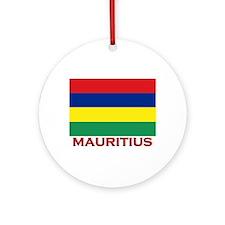 Mauritius Flag Merchandise Ornament (Round)