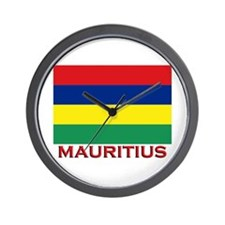 Mauritius Flag Merchandise Wall Clock