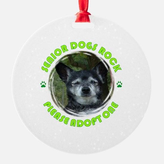 Adopt A Senior Dog Ornament