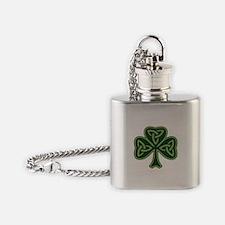Trinity Shamrock Flask Necklace