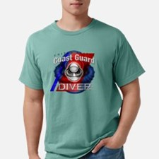 coast guard diver clock Mens Comfort Colors Shirt
