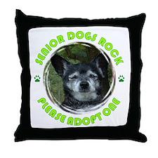 Adopt A Senior Dog Throw Pillow