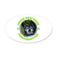Adopt A Senior Dog Oval Car Magnet