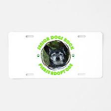 Adopt A Senior Dog Aluminum License Plate