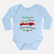Custom 1st Christmas Long Sleeve Infant Bodysuit