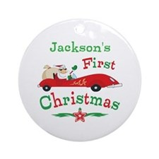 Custom 1st Christmas Ornament (Round)
