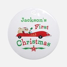 Custom 1st Christmas Ornament (Round)