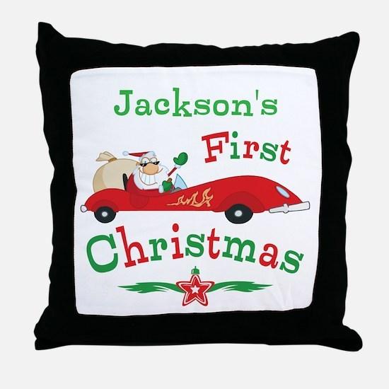 Custom 1st Christmas Throw Pillow