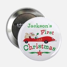 "Custom 1st Christmas 2.25"" Button"