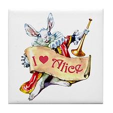 Alice's White Rabbit Tile Coaster