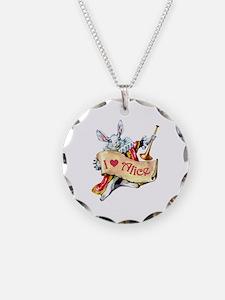 Alice's White Rabbit Necklace