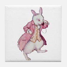 Alice's White Rabbit Tile Coaster
