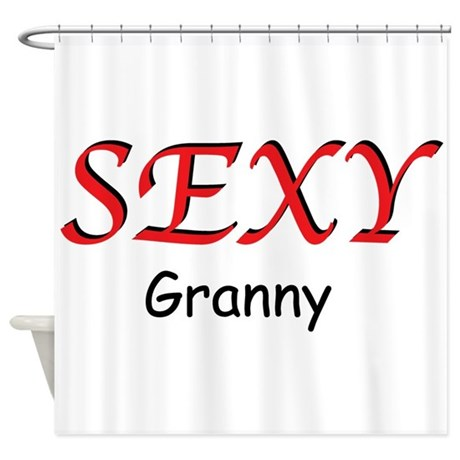 Sexy Granny Shower Curtain