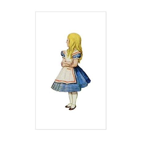 Alice in Wonderland Sticker (Rectangle)