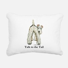Wire Fox Terrier Tail WFT Rectangular Canvas Pillo