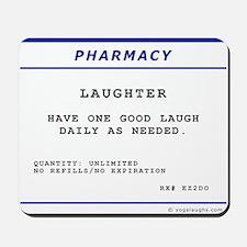 Laughtees Laughter Prescription Label Mousepad