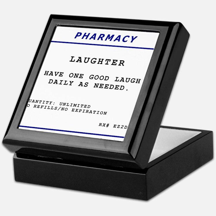 Laughtees Laughter Prescription Label Keepsake Box