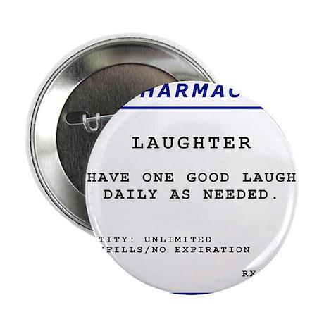 """Laughtees Laughter Prescription Label 2.25"""" Button"""