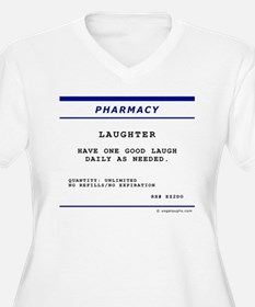 Laughtees Laughter Prescription Label T-Shirt