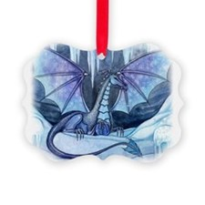Ice Dragon Fantasy Art by Molly Harrison Ornament