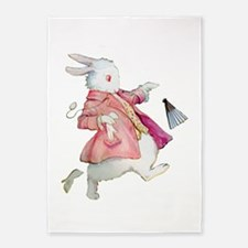 Alice's White Rabbit 5'x7'Area Rug