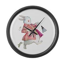 Alice's White Rabbit Large Wall Clock