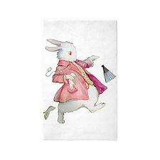 Alice's White Rabbit Area Rug