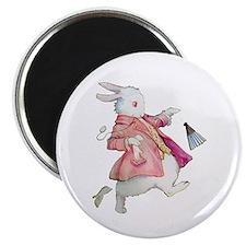 """Alice's White Rabbit 2.25"""" Magnet (10 pack)"""
